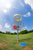 Disc golf basket Royalty Free Stock Images