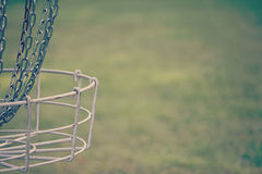Disc Golf Basket. Vintage side look at a disc golf basket Stock Image