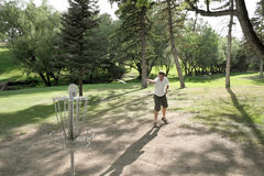 Disc Golf - Folf. Frisbee Golf at Pioneer Park. Billings, MT Stock Photography