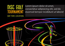 Disc golf or Frolf sports banner Stock Photo