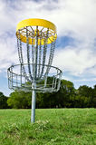 Disc golf hole. At a park Stock Photos