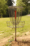 Disc Golf Hole. Frisbee Golf or Disc Golf Basket or Hole Stock Images