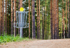 Disc golf hole Royalty Free Stock Photo