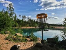Disc Golf Lake Stock Images