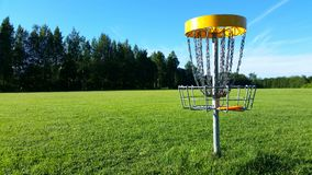 Disc golf. Is very popular sports in Finland's summer Stock Photos