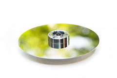 Disc in green concept Royalty Free Stock Photo