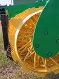 Disc harrow behind tractor Stock Photography