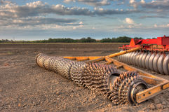 Disc Harrow for the fields Stock Photography