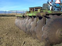 Disc harrow and tractor Royalty Free Stock Photography