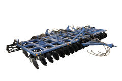 Disc harrow. White background, isolated Royalty Free Stock Images