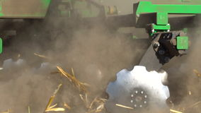 The disc harrow in the work stock video