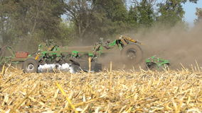 The disc harrow in the work stock video footage