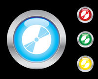 Disc icons. Disc glass button icons. Please check out my icons gallery Stock Image