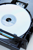 Disc inserted into dvd-drive Royalty Free Stock Photos