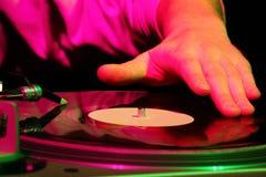 Disc jockey Foto de archivo libre de regalías
