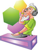 Disc jockey. Colorful disc jockey in a club Royalty Free Stock Image