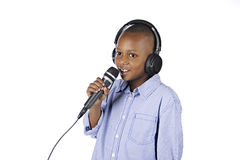 Disc Jockey Boy Stock Photo