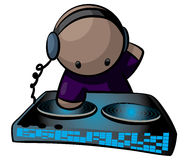 Disc jockey cartoon  Stock Images