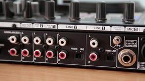 Disc jockey console sockets stock video footage