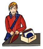 Disc jockey de la música Imagen de archivo libre de regalías