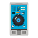 Disc jockey design Royalty Free Stock Photography