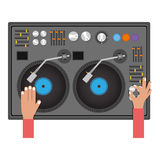 Disc jockey design Royalty Free Stock Images