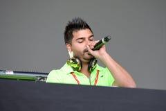 Disc-jockey espagnol au festival de bruit de Primavera de Badalona photos libres de droits