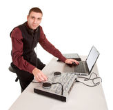 Disc Jockey Isolated Stock Photography
