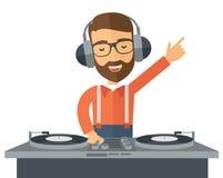Disc jockey mixing music Royalty Free Stock Photography
