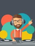Disc jockey mixing music Royalty Free Stock Photo