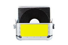 Disc Jockey suitcase Stock Photo