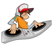 Disc jockey. Vector color illustration disc jockey Stock Photos