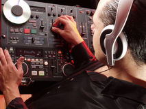 Disc Jockey at work. Stock Images