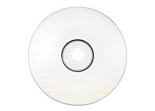 Disc Labeling - Blank White Disc w/ Path Royalty Free Stock Photo