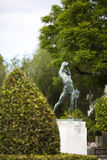 Disc man statue. Statue of Olympian discus thrower outside the Panathenaic stadium Royalty Free Stock Photography