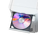 Disc in open tray Royalty Free Stock Image