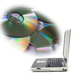 Disc overload Royalty Free Stock Image