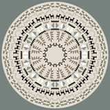 Disc With Primitive Art Pattern. Isolated design element with ethnic pattern. Tribal ornament with aboriginal art elements. Decorative element of traditional Stock Images