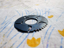 Disc. Round gear disc detail tool device Royalty Free Stock Image