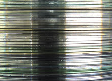 Disc Stack Background Stock Image