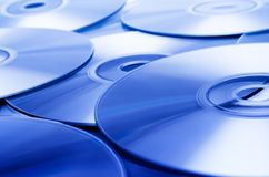 Disc Texture (Blue). Blue disks background Stock Images