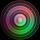 Disc texture with more color. And black background Royalty Free Stock Photos