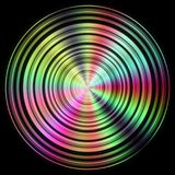 Disc texture with more color. And black background Stock Photography