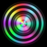 Disc texture with more color. And black background Royalty Free Stock Photography
