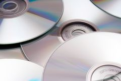 Disc Texture (Silver). Silver disks background Royalty Free Stock Images