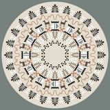 Disc With Tribal Ornament Royalty Free Stock Images