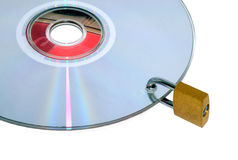 Disc under lock and key Stock Photography