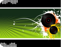 Disc vector composition Stock Images