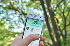 Discador app dos lugar frequentados de Google imagens de stock royalty free