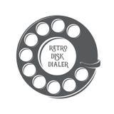 Discador retro do disco do vetor ilustração stock